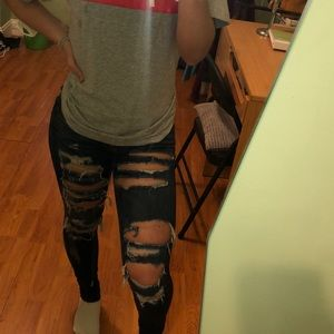 ripped AEO jeans